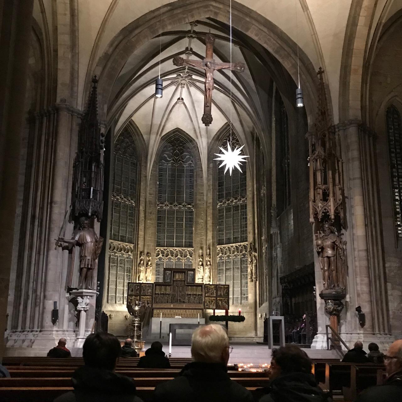 Viertelsternstunde: Blick in den Kirchenraum der Reinoldikirche in Dortmund
