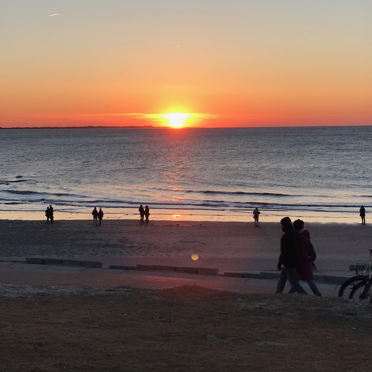 Norderney: Sonnenuntergang an der Westküste