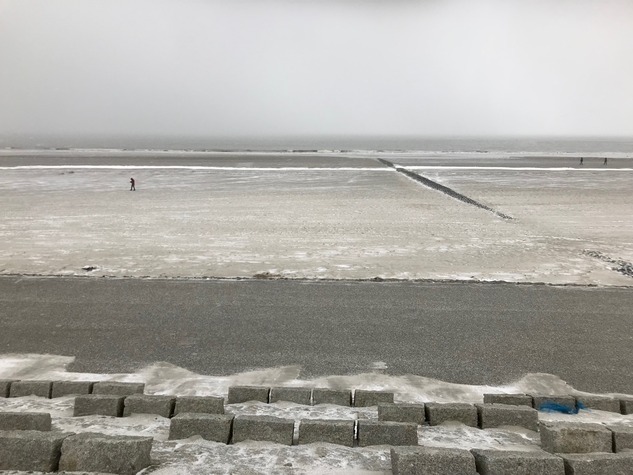 Norderney: Schneefall