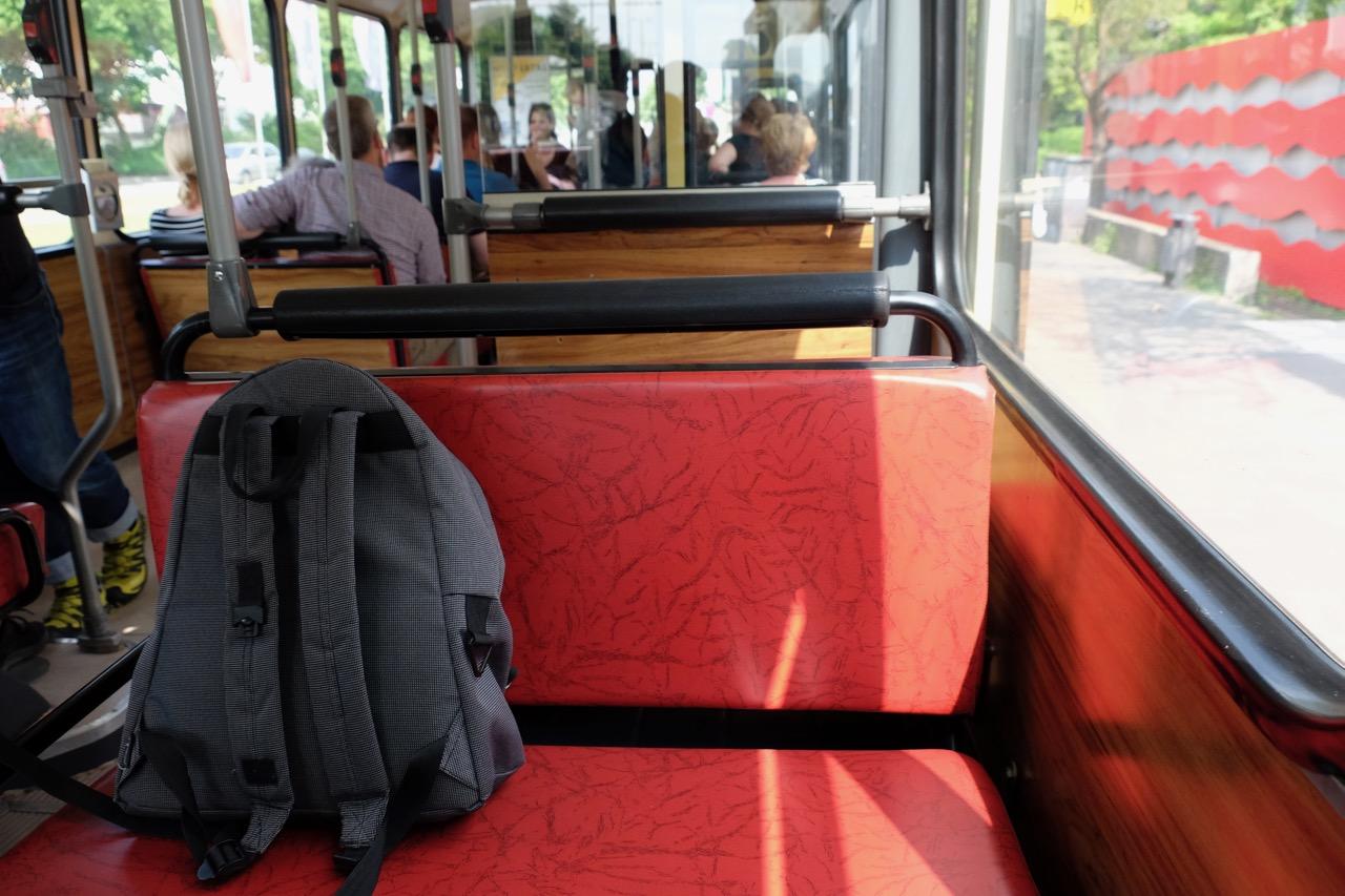 Wuppertal: Oldtimerbus von innen