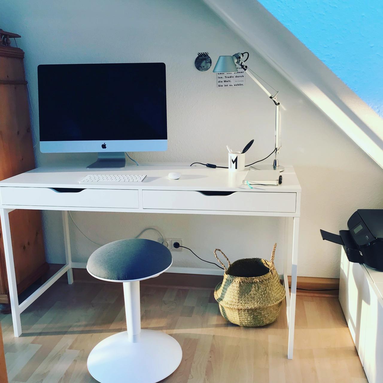 Arbeitsplatz: Schreibtisch