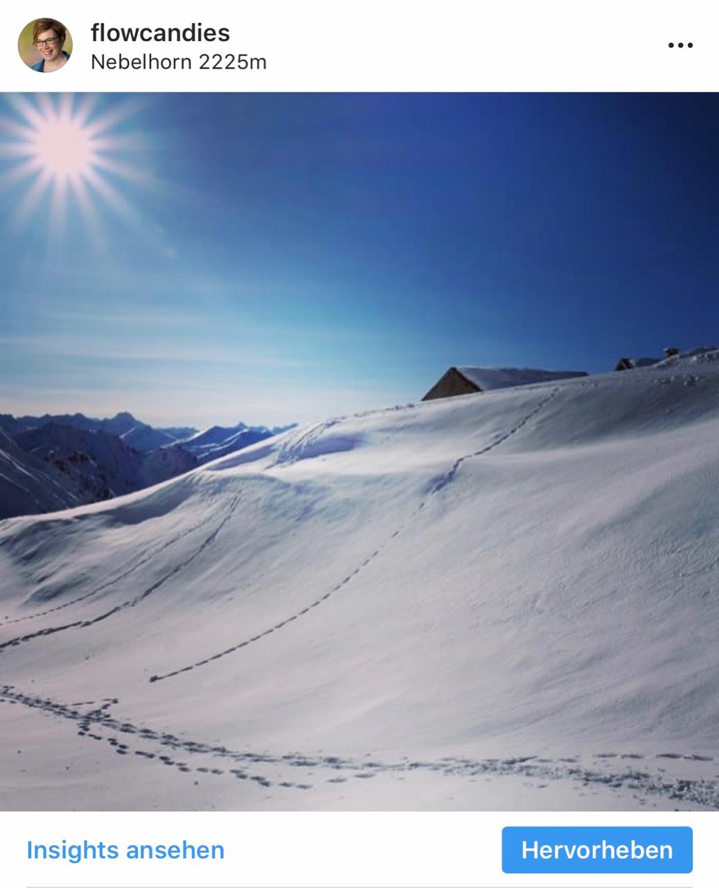 Instagram Oberstdorf: Nebelhorn im Schnee