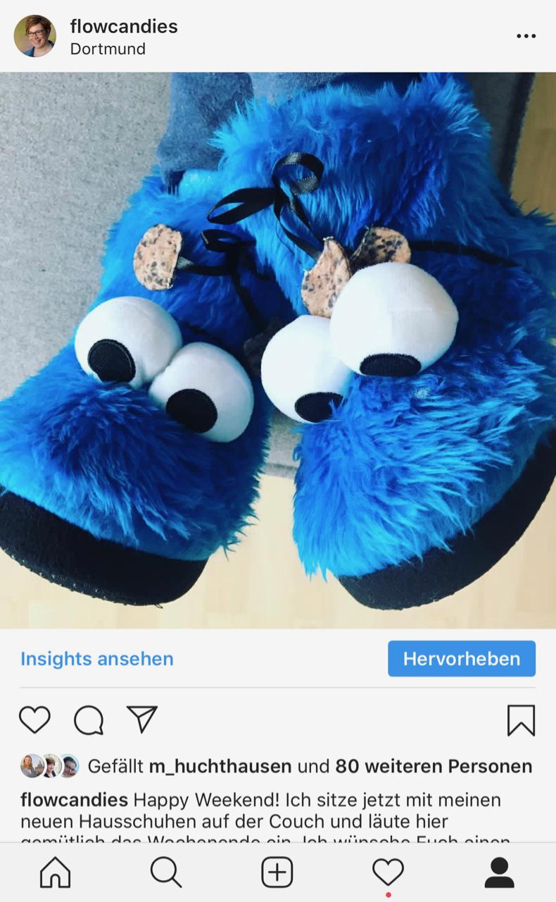 Instagram: Hausschuhe