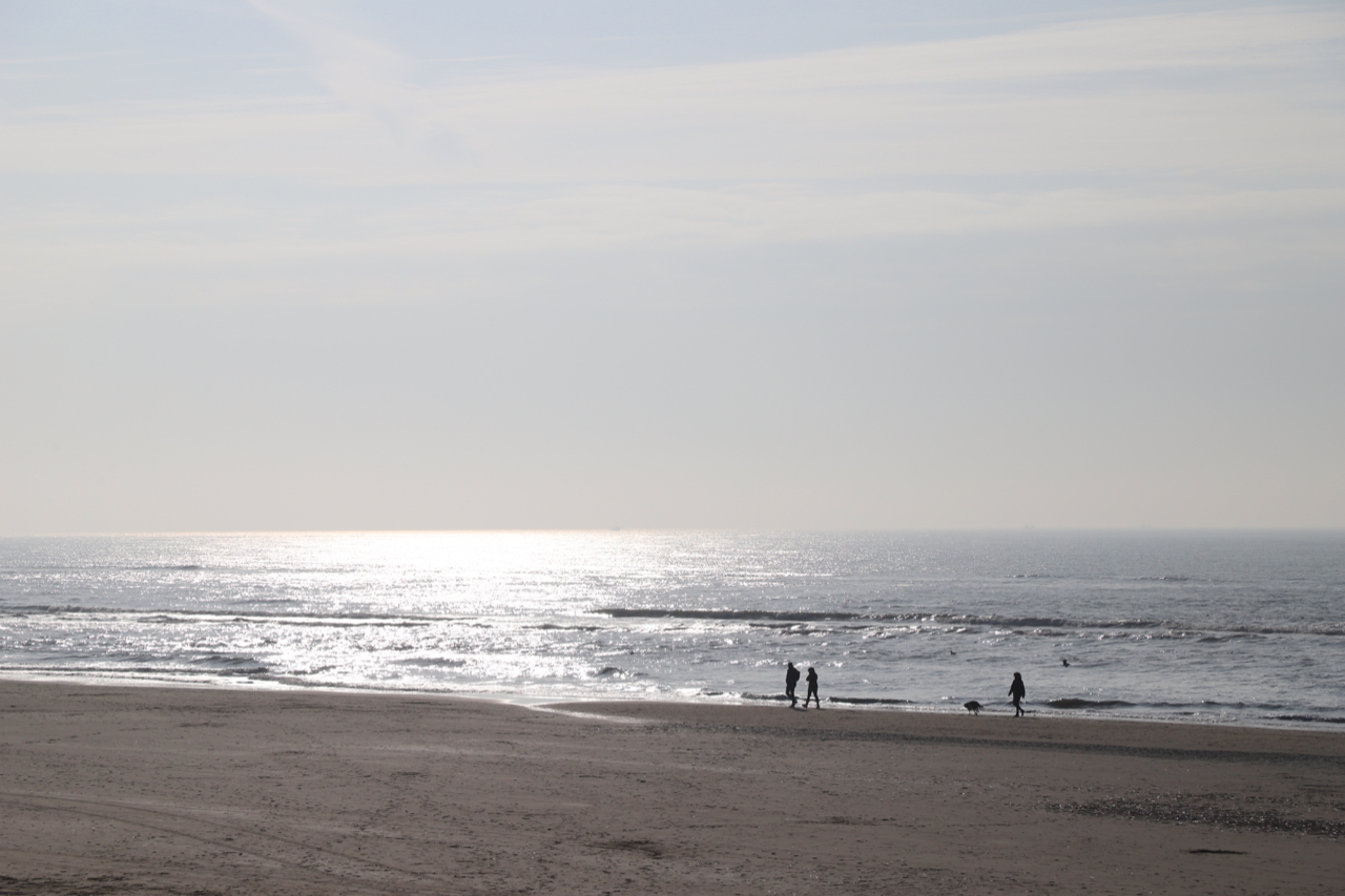 Noordwijk Strand am Abend