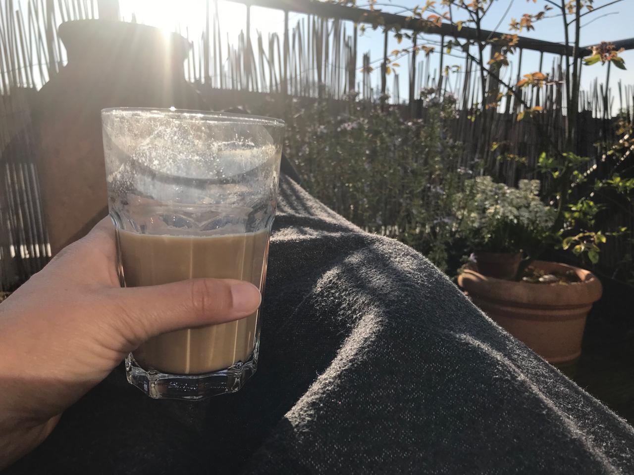 Kaffee auf der Terrasse