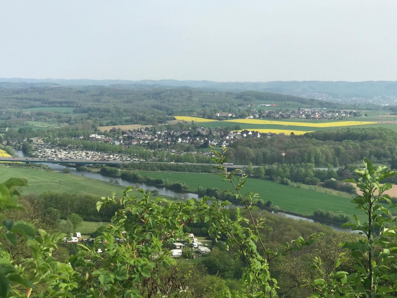 Hohensyburg: Blick ins Ruhrtal