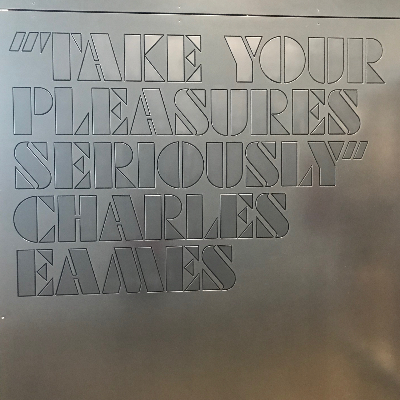 Vitra Haus: Zitat Charles Eames