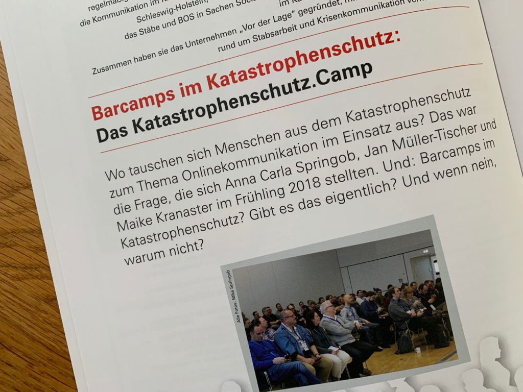 Magazin Notfallvorsorge: Artikel zum Barcamp