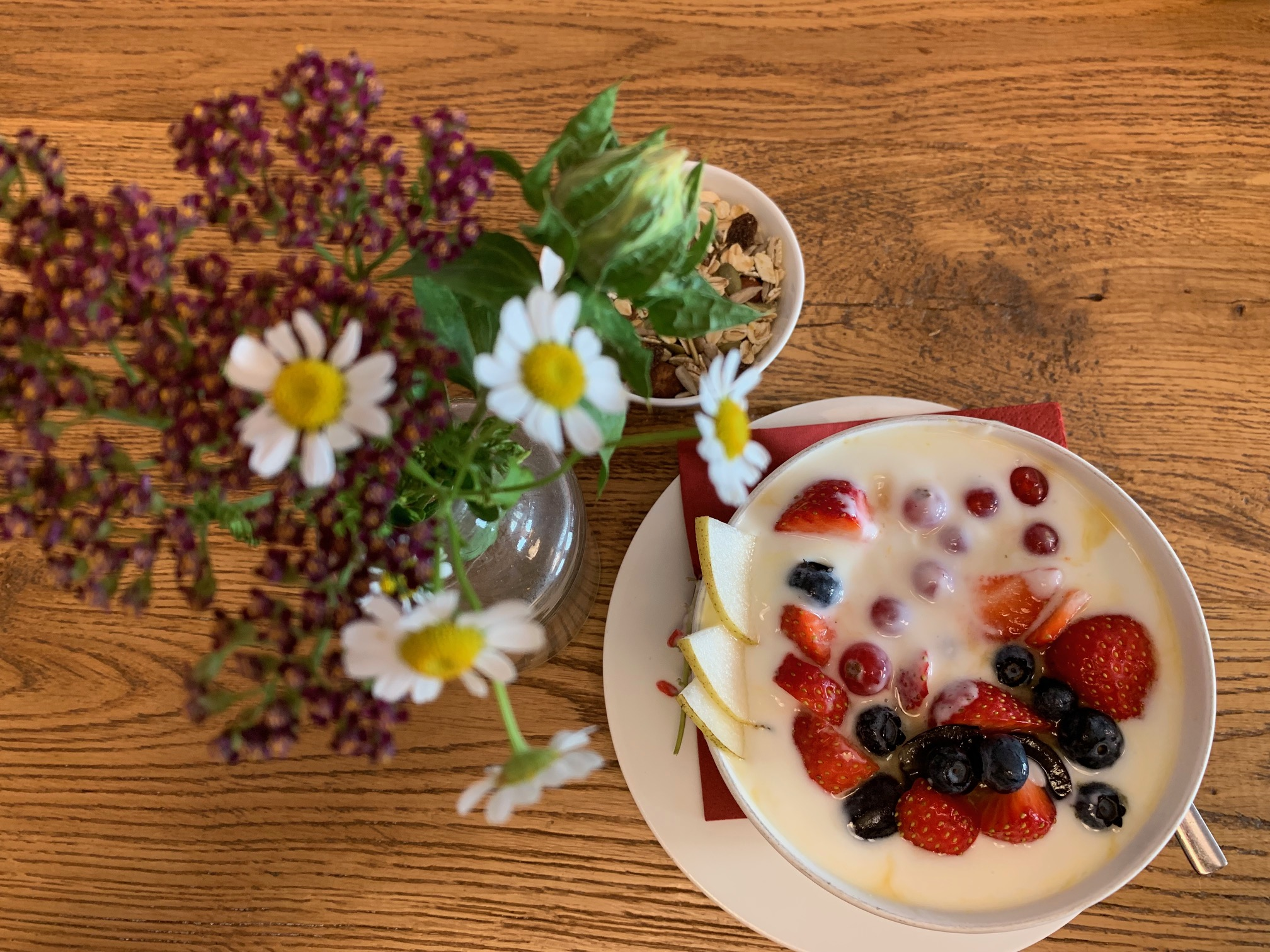 Frühstück Bäckerei Fischer: Joghurt mit frischen Früchten