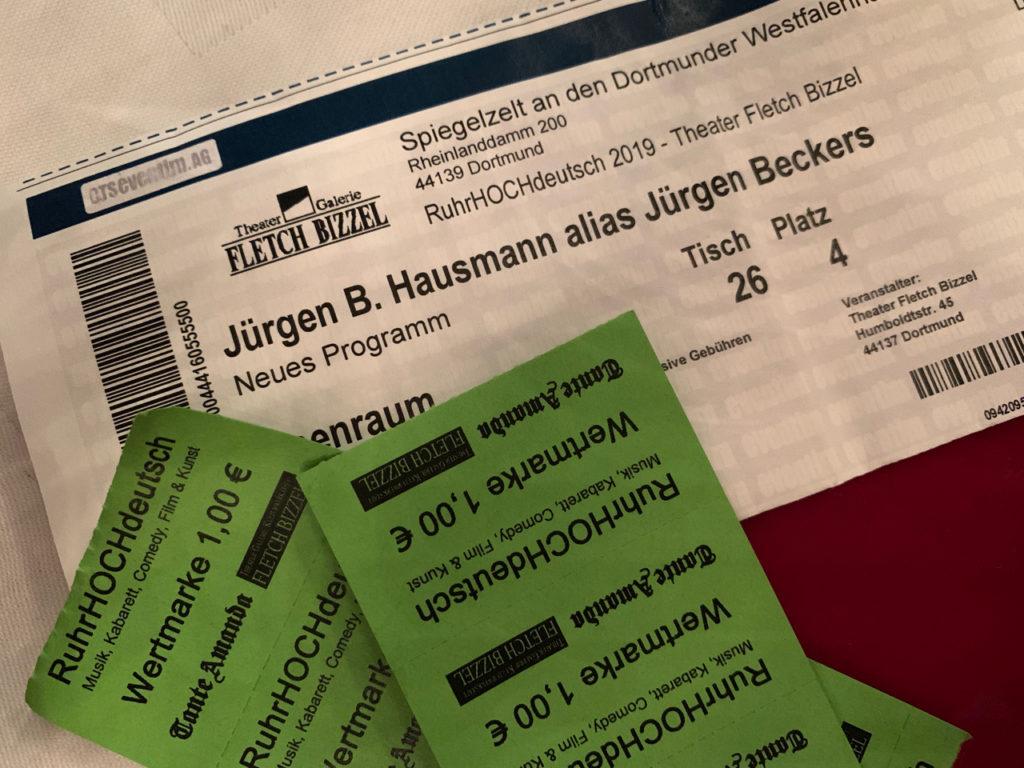 Tickets und Wertmarken Ruhrhochdeutsch