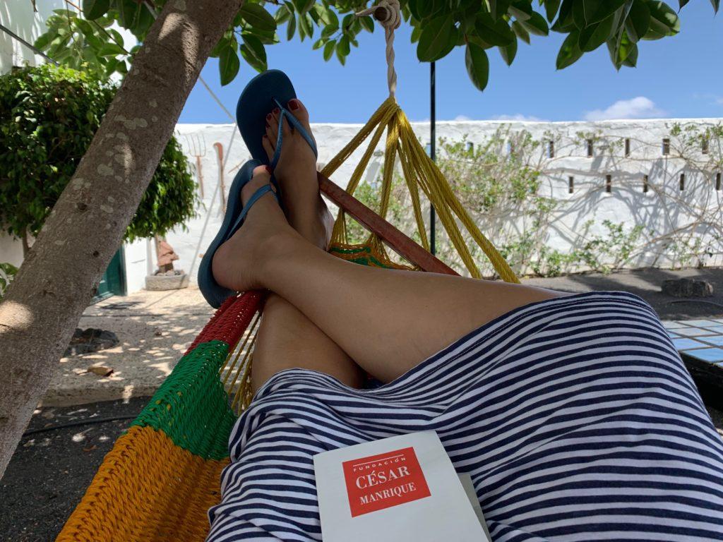 Caserio de Mozaga: Liegen in der Hängematte