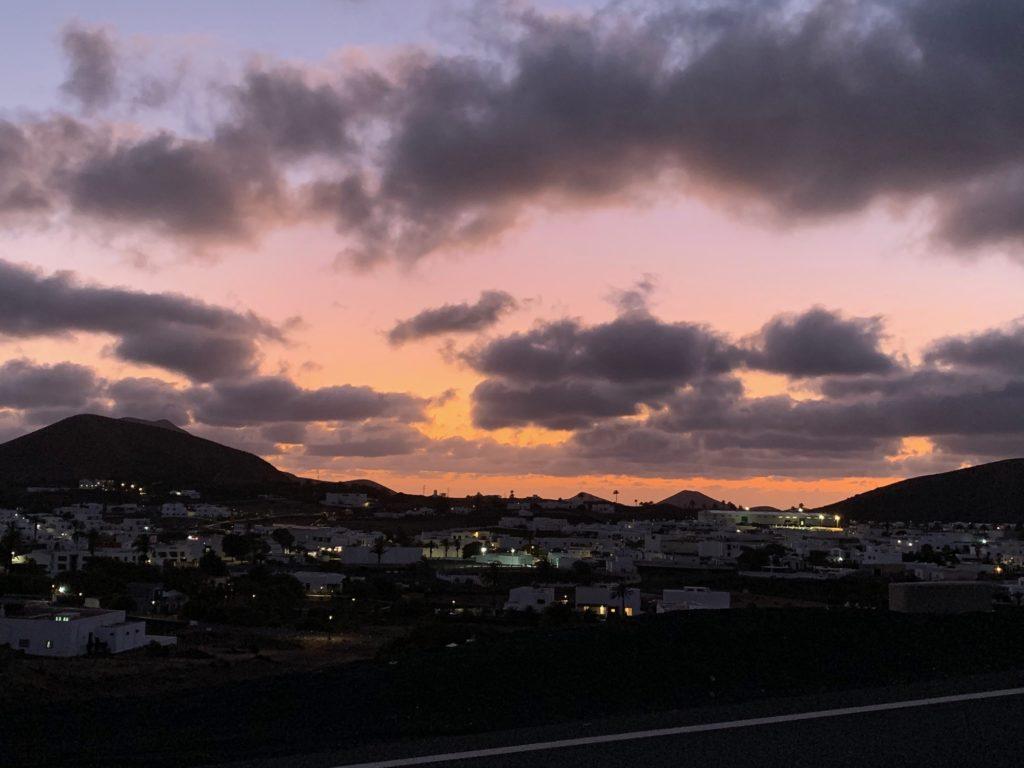 Lanzarote: Uga beim Einbrechen der Nacht