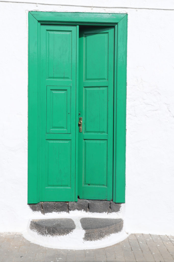 Lanzarote: Typische grüne Haustür