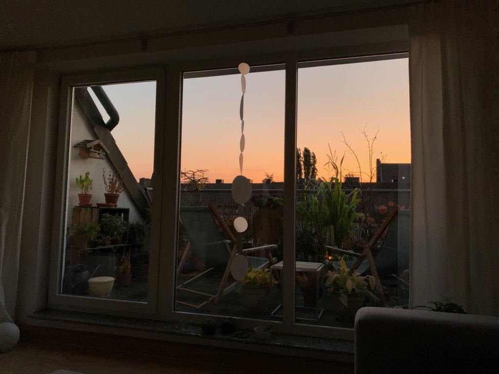 Sonnenaufgang von der Couch aus